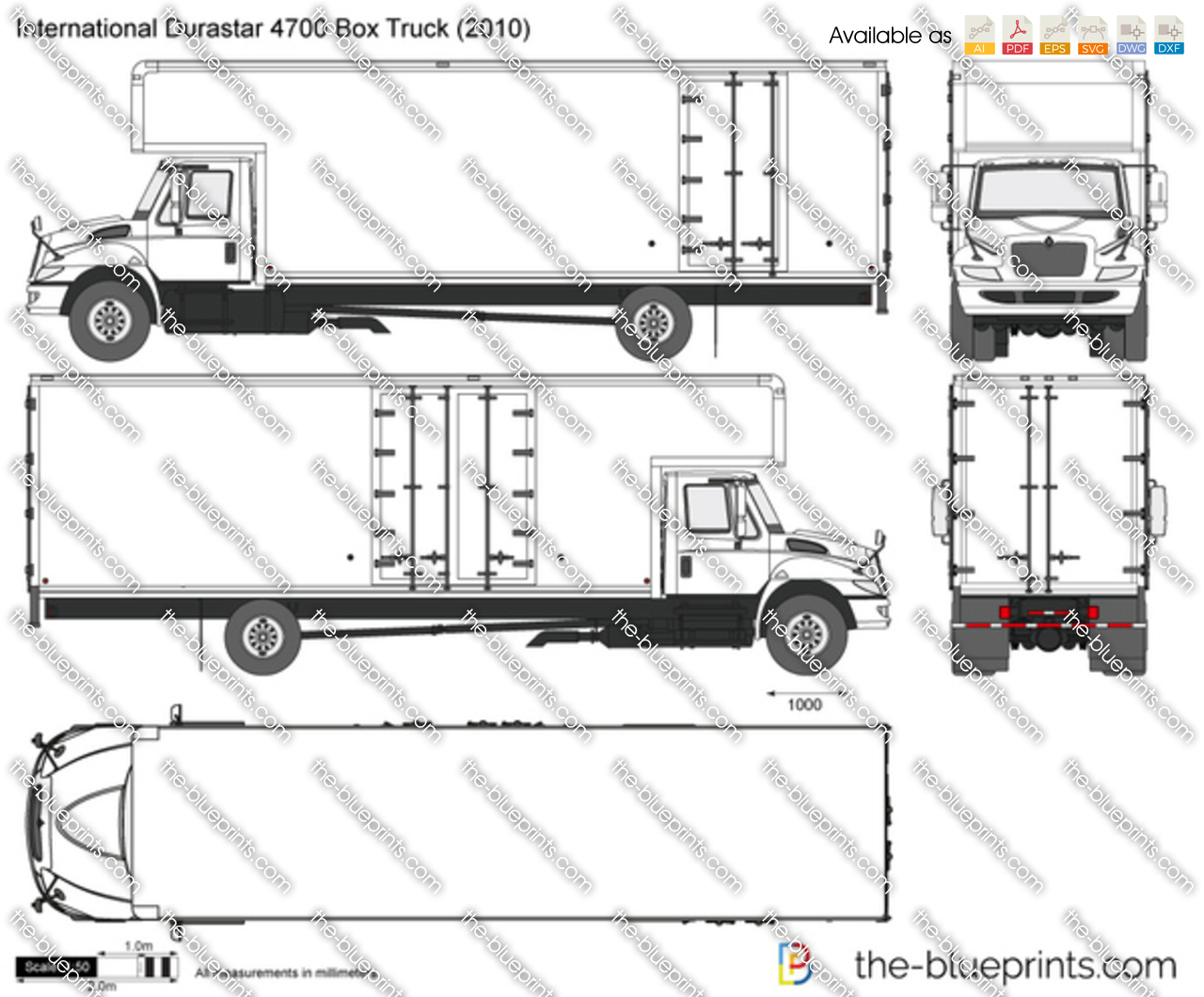 International Durastar 4700 Box Truck
