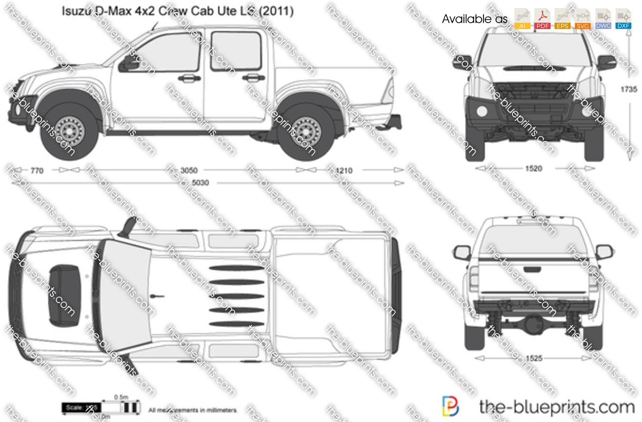 Isuzu D-Max 4x2 Crew Cab Ute LS 2009