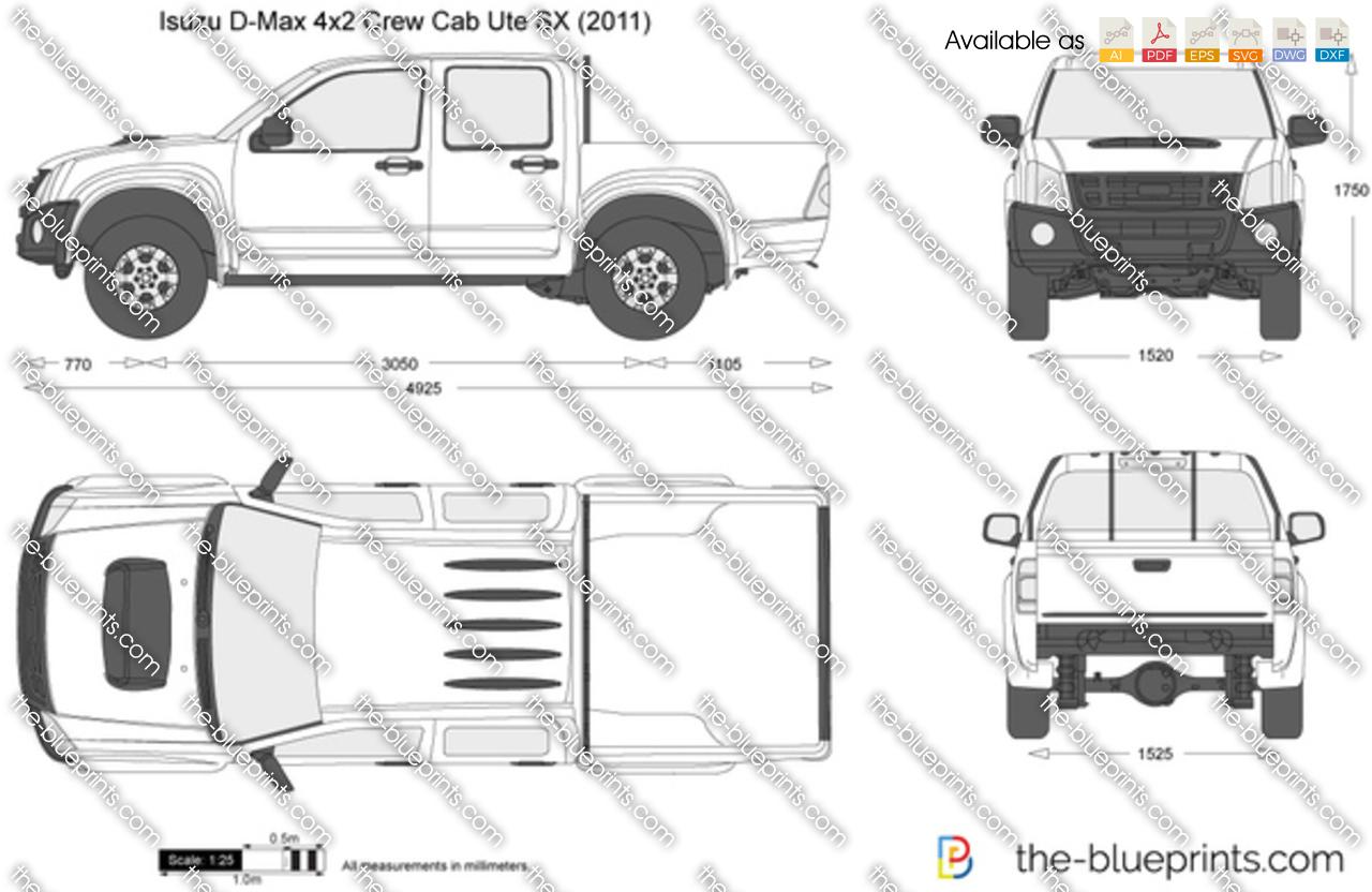 Isuzu D-Max 4x2 Crew Cab Ute SX 2009