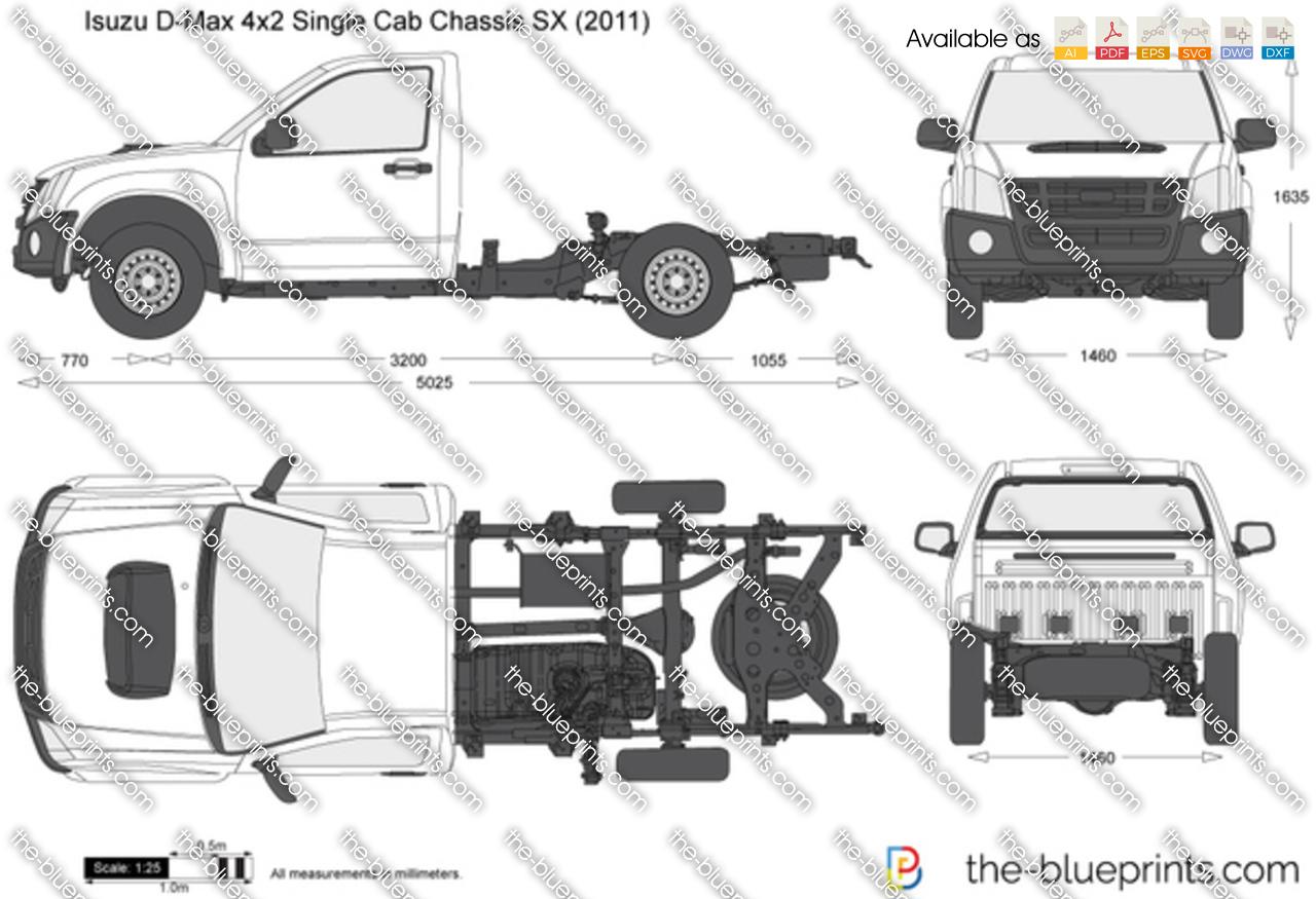 Isuzu D-Max 4x2 Single Cab Chassis SX 2010