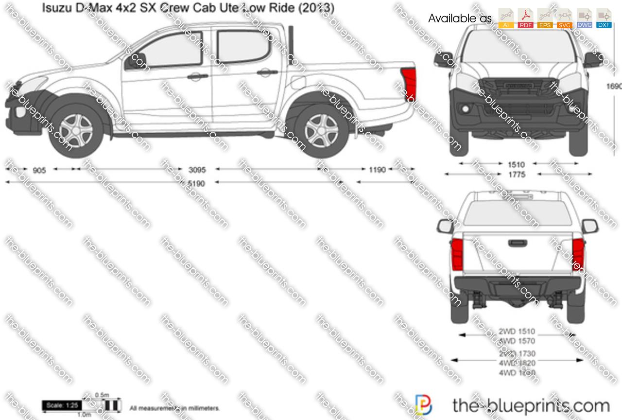 Isuzu D-Max 4x2 SX Crew Cab Ute Low Ride 2014
