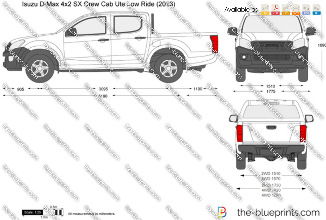 Isuzu D-Max 4x2 SX Crew Cab Ute Low Ride 2015