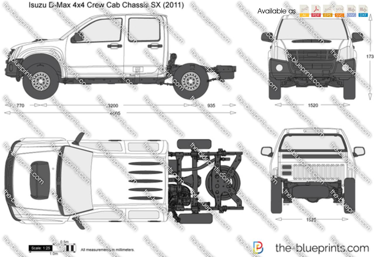 Isuzu D-Max 4x4 Crew Cab Chassis SX 2013