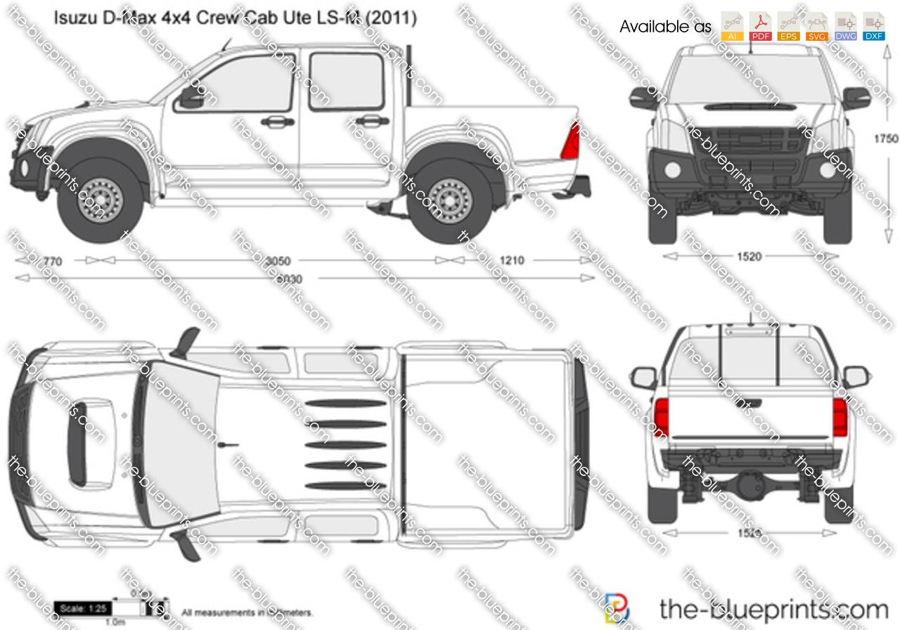 Isuzu D-Max 4x4 Crew Cab Ute LS-M 2012