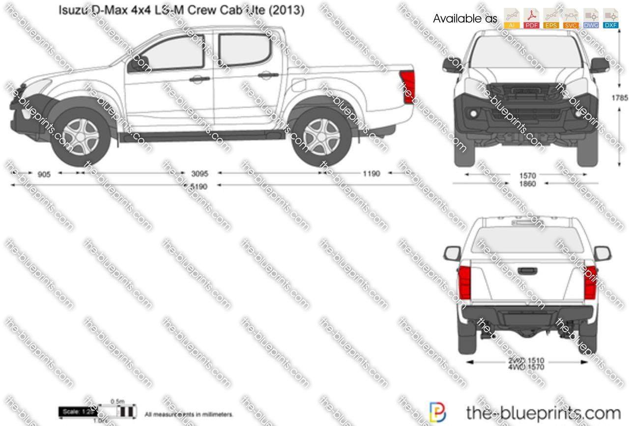 Isuzu D-Max 4x4 LS-M Crew Cab Ute 2017