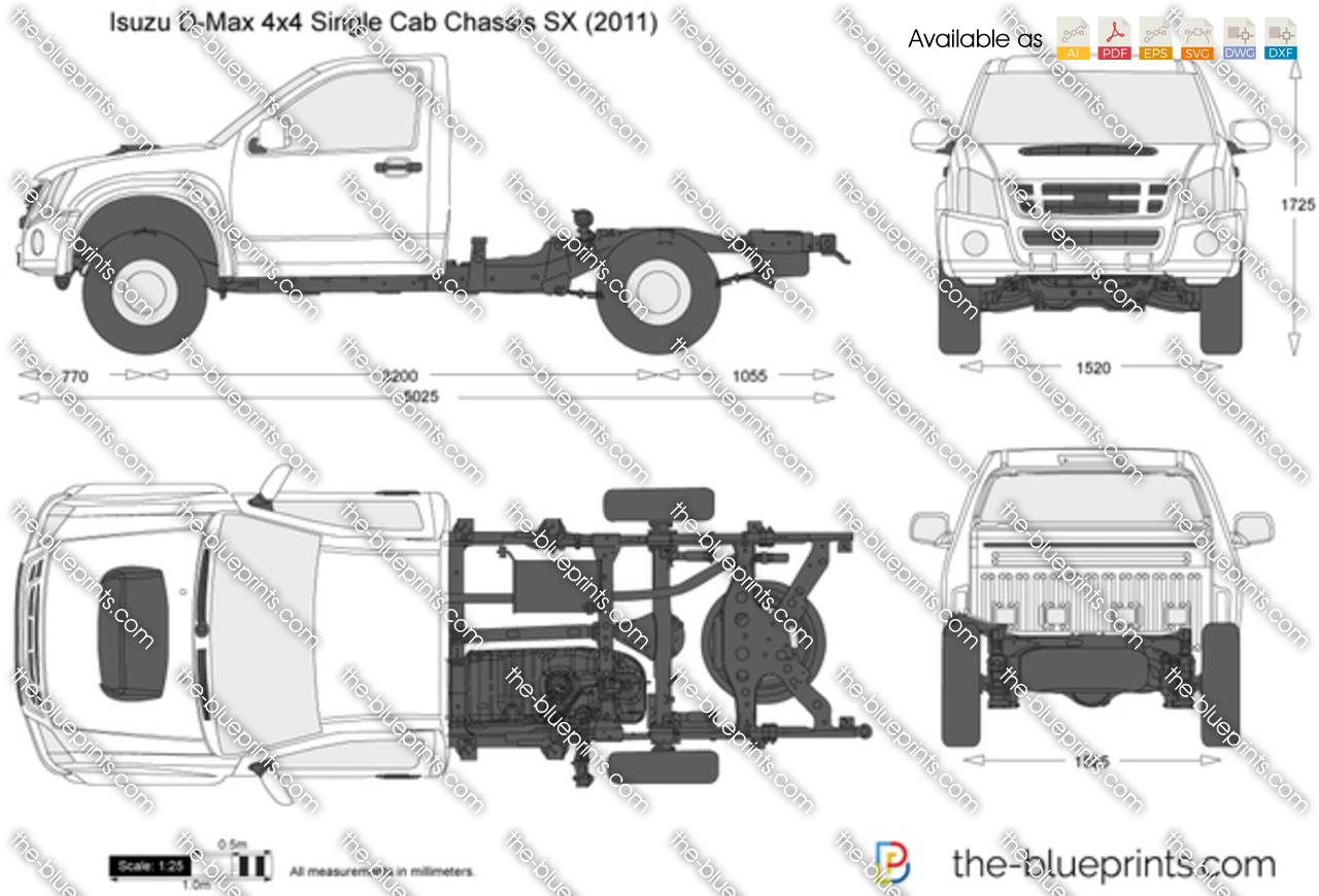 Isuzu D-Max 4x4 Single Cab Chassis SX 2009