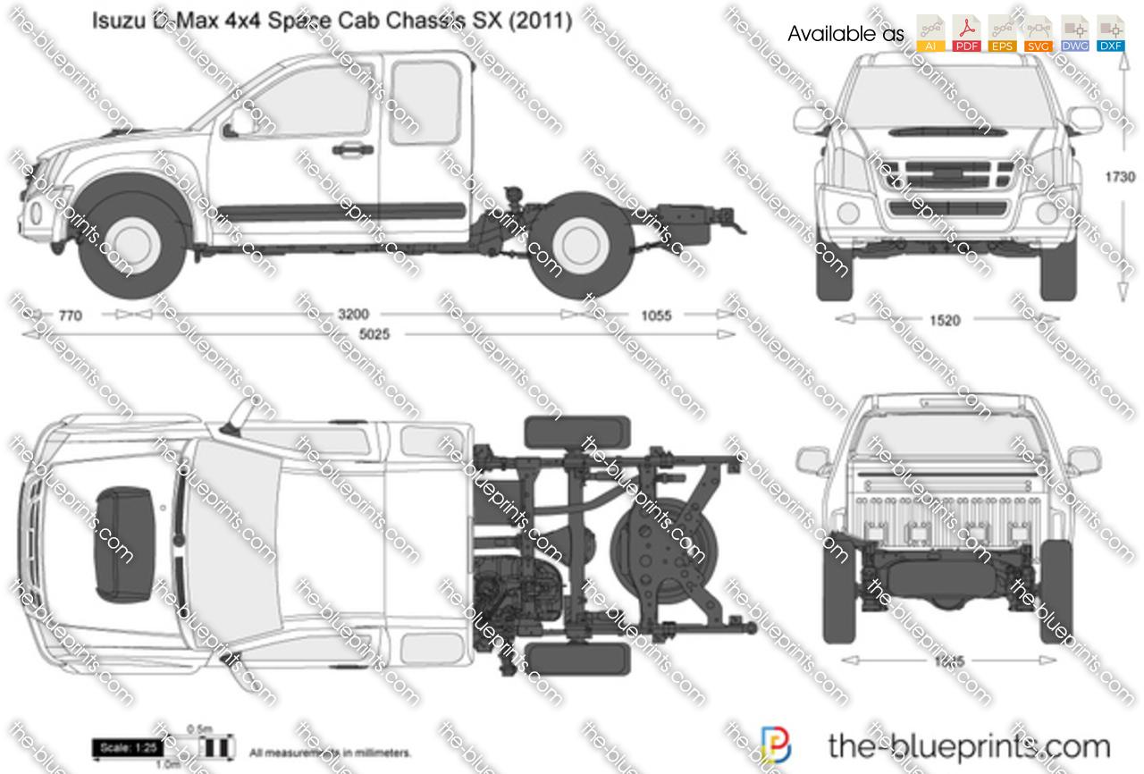 Isuzu D-Max 4x4 Space Cab Chassis SX 2013