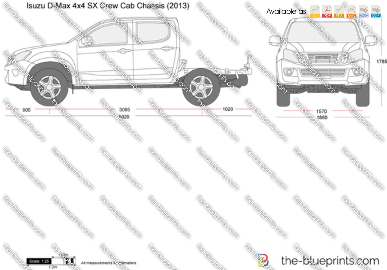 Isuzu D-Max 4x4 SX Crew Cab Chassis 2014