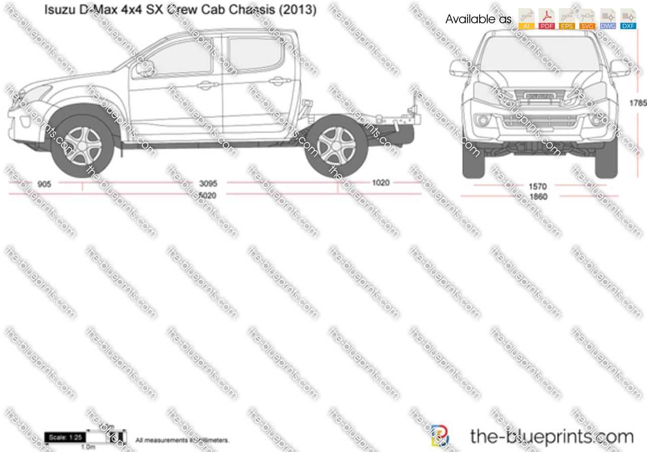 Isuzu D-Max 4x4 SX Crew Cab Chassis 2015