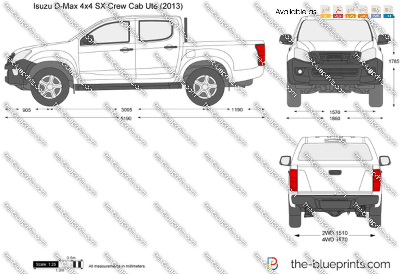Isuzu D-Max 4x4 SX Crew Cab Ute 2014