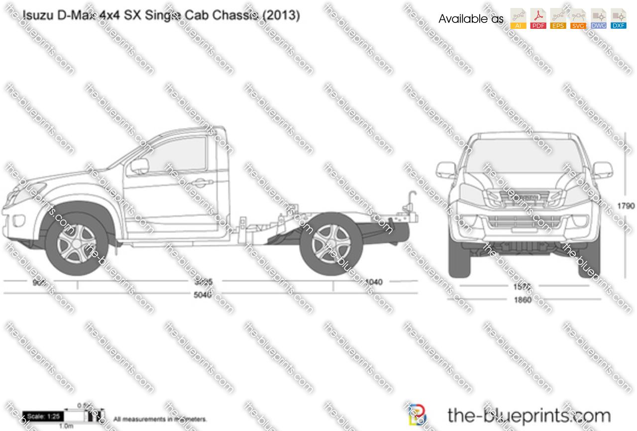Isuzu D-Max 4x4 SX Single Cab Chassis 2014