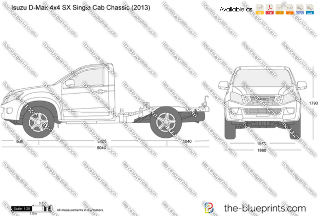 Isuzu D-Max 4x4 SX Single Cab Chassis 2016