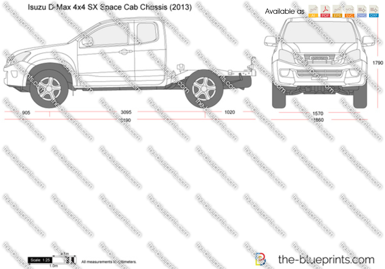 Isuzu D-Max 4x4 SX Space Cab Chassis 2014