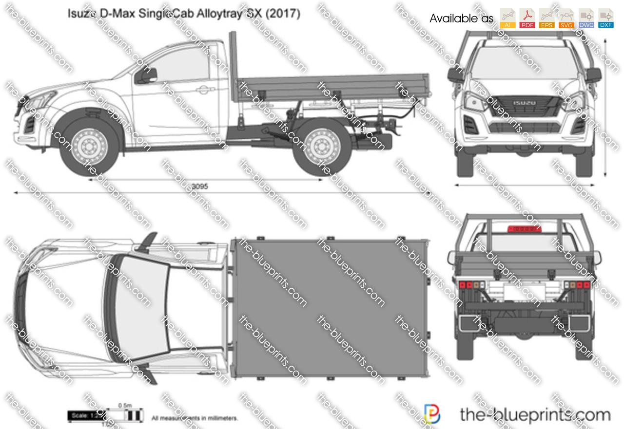 Isuzu D-Max Single Cab Alloytray SX 2018