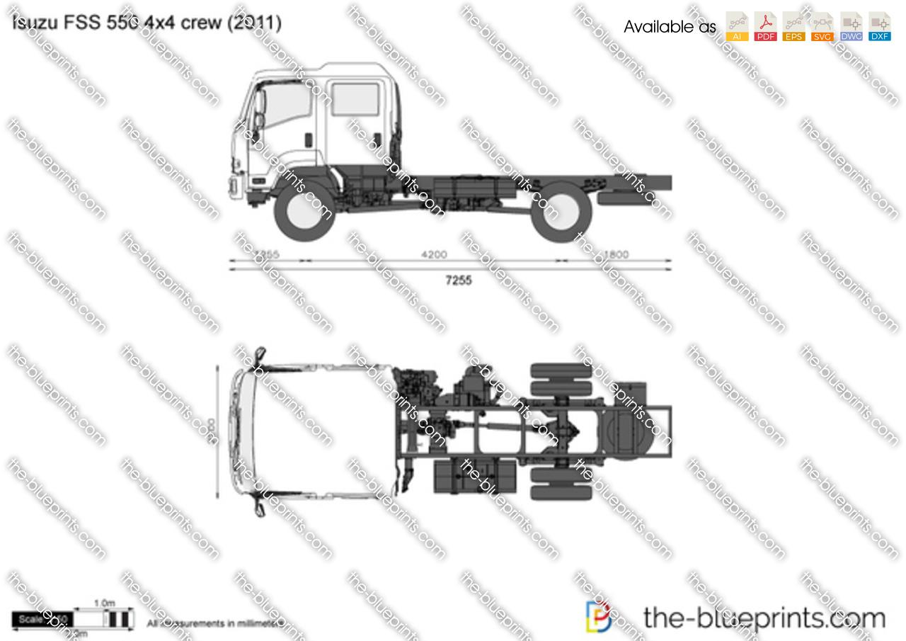 Isuzu FSS 550 4x4 crew
