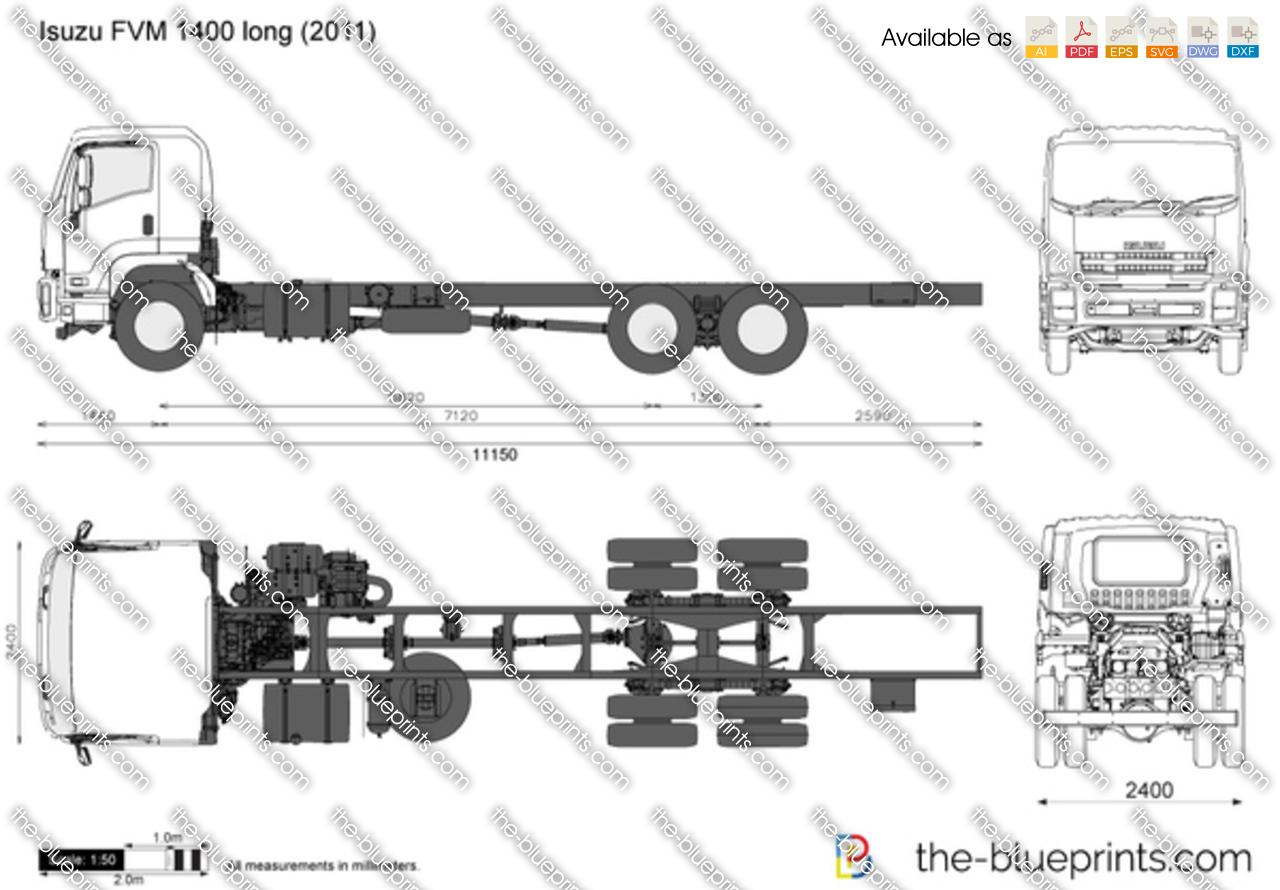 isuzu fvm 1400 long vector drawing