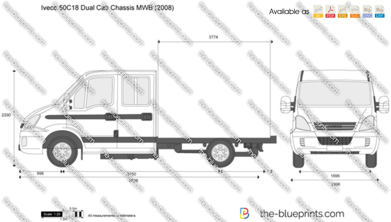 Iveco 50C18 Dual Cab Chassis MWB 2007
