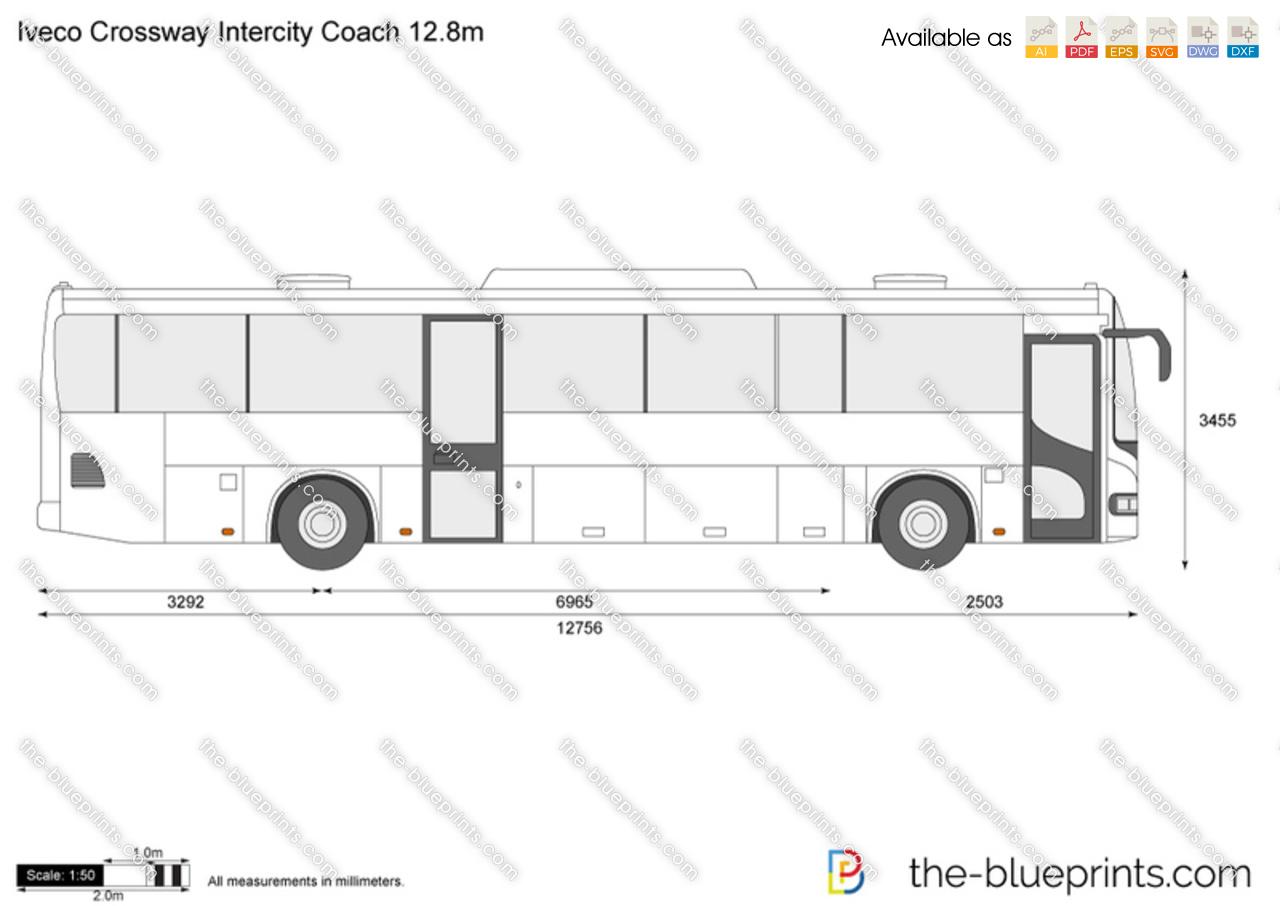 Iveco Crossway Intercity Coach 12.8m