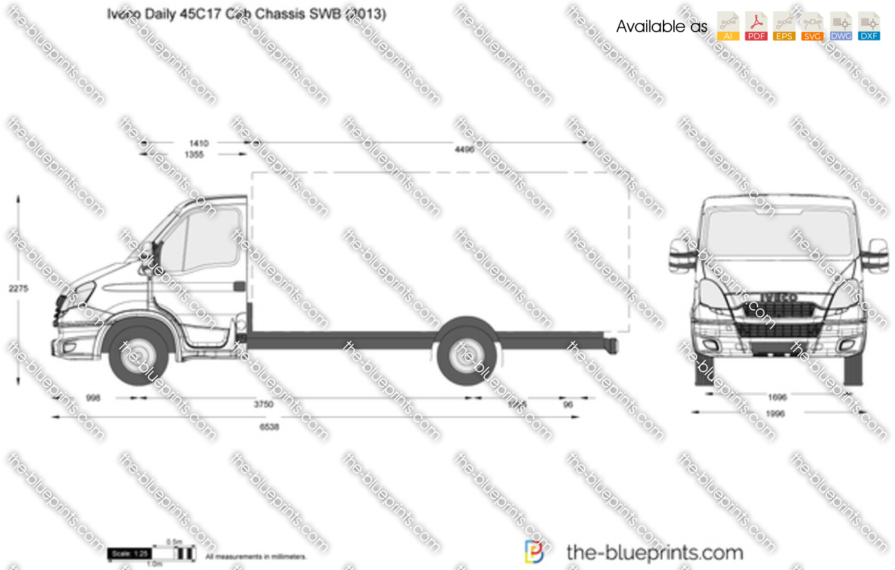 Iveco Daily 45C17 Cab Chassis SWB 2012