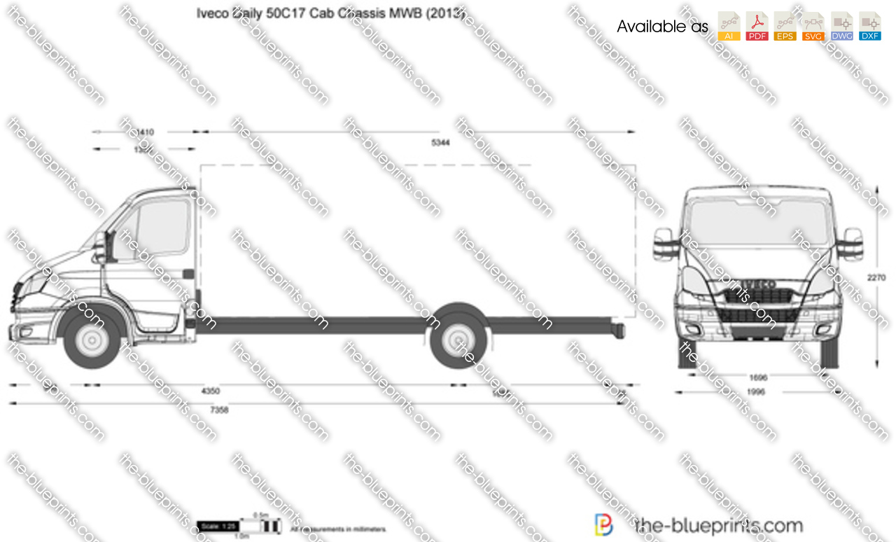 Iveco Daily 50C17 Cab Chassis MWB 2012