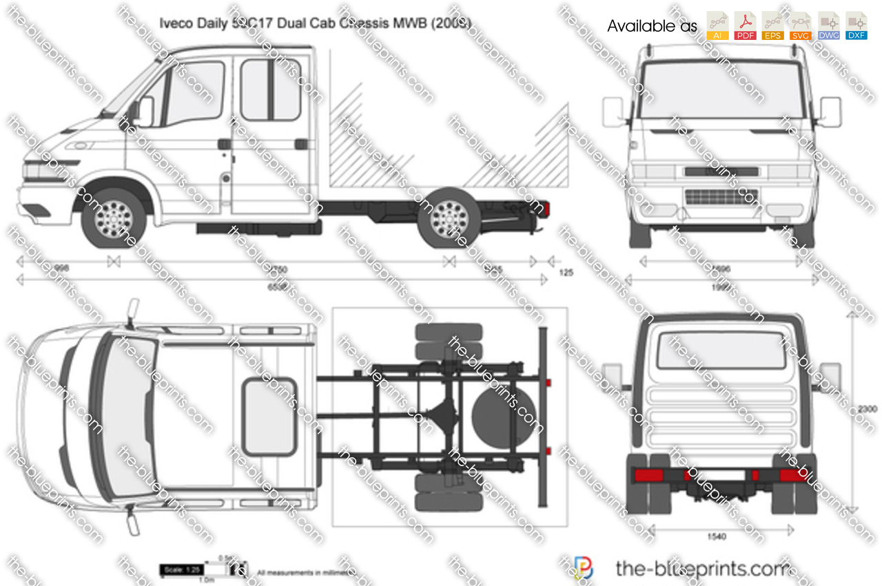 Iveco Daily 50C17 Dual Cab Chassis MWB 2003