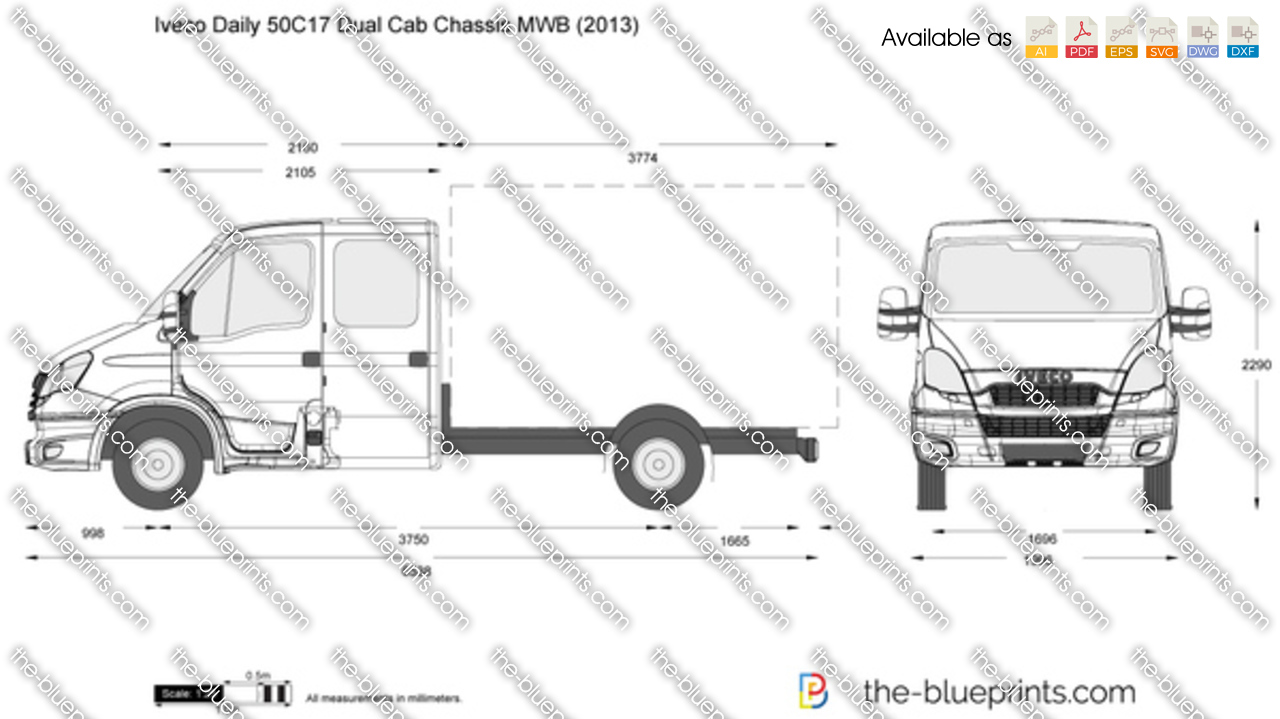 Iveco Daily 50C17 Dual Cab Chassis MWB
