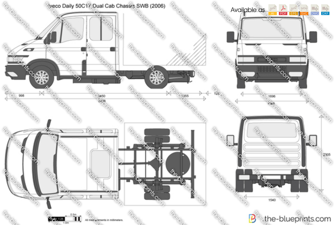 Iveco Daily 50C17 Dual Cab Chassis SWB