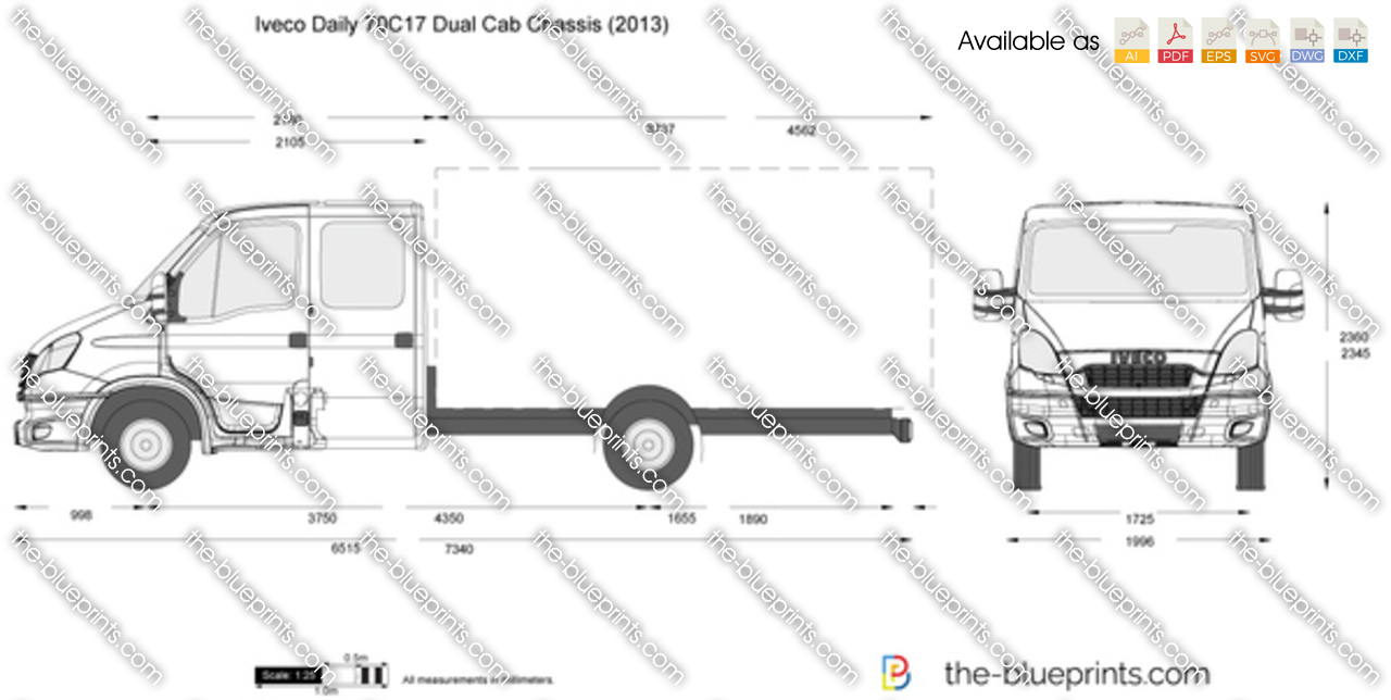 Iveco Daily 70C17 Dual Cab Chassis 2012