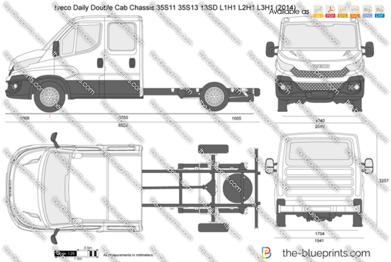 Iveco Daily Double Cab Chassis 35S11 35S13 13SD L2H1 2017