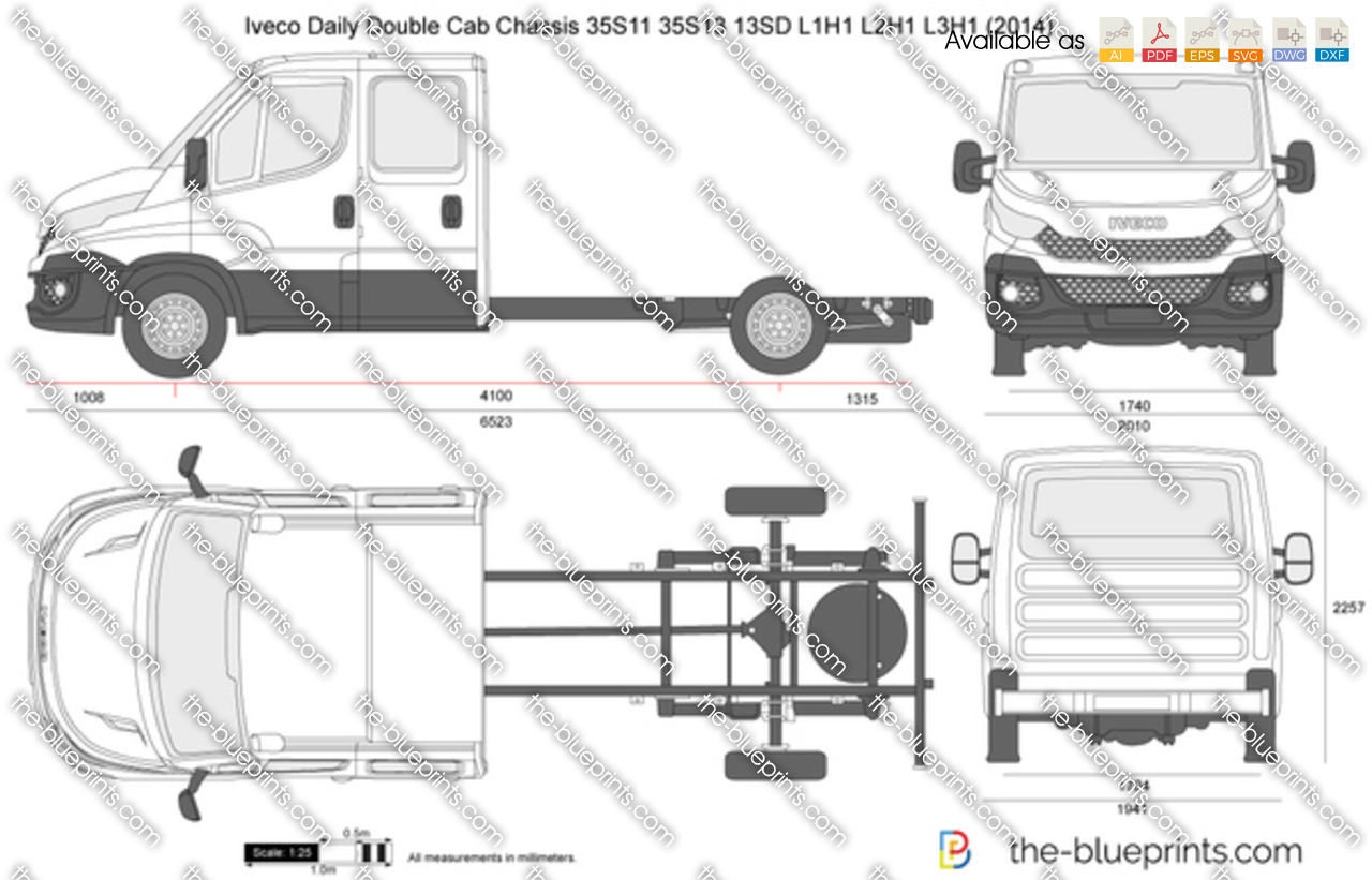 Iveco Daily Double Cab Chassis 35S11 35S13 13SD L3H1 2016