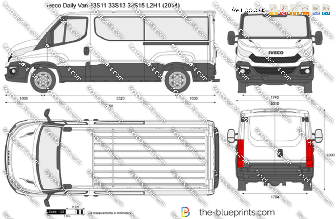iveco daily l2h1 vector drawing. Black Bedroom Furniture Sets. Home Design Ideas