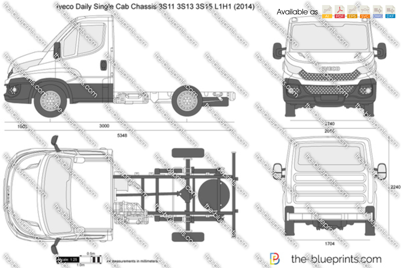 Iveco Daily Single Cab Chassis 3S11 3S13 3S15 L1H1 2018