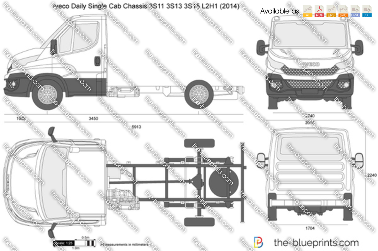 Iveco Daily Single Cab Chassis 3S11 3S13 3S15 L2H1 2017