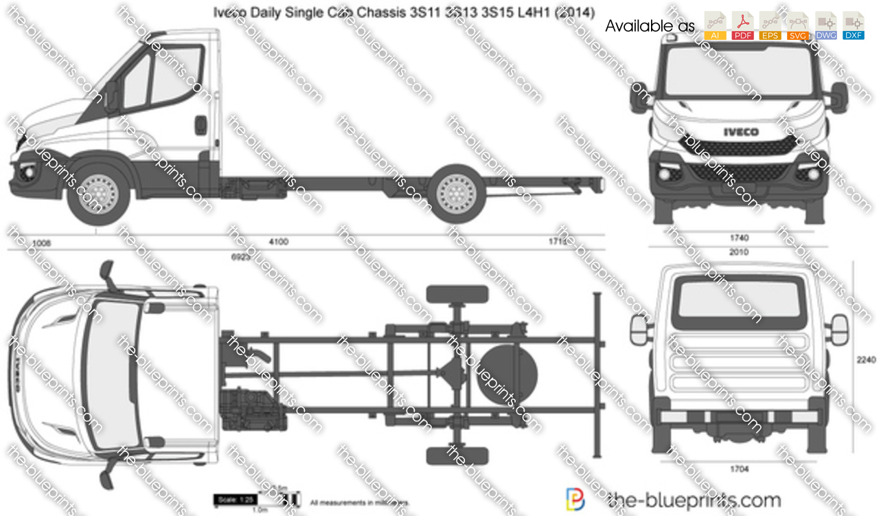 Iveco Daily Single Cab Chassis 3S11 3S13 3S15 L4H1 2016