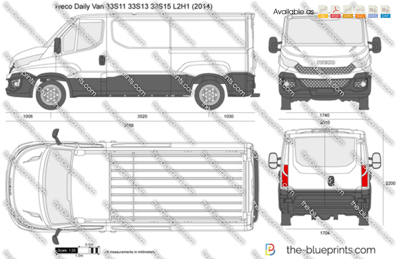 Iveco Daily Van 33S11 33S13 33S15 L2H1 2015