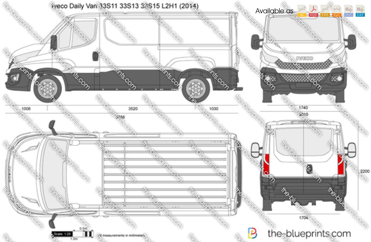 Iveco Daily Van 33S11 33S13 33S15 L2H1 2016
