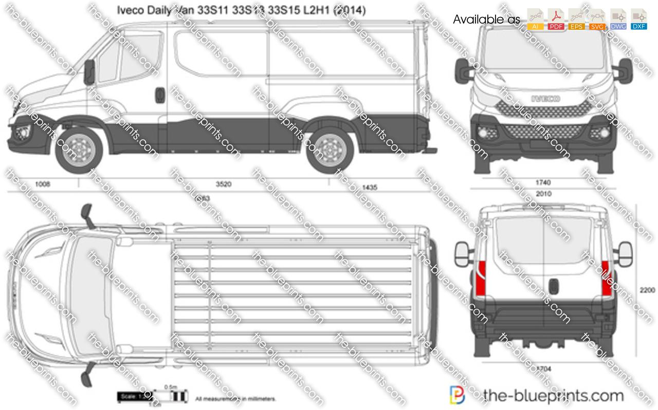 Iveco Daily Van 33S11 33S13 33S15 L2H1 Overhang 2017