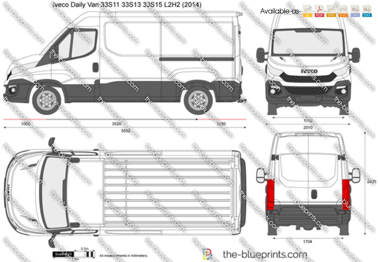 Iveco Daily Van 33S11 33S13 33S15 L2H2 2016
