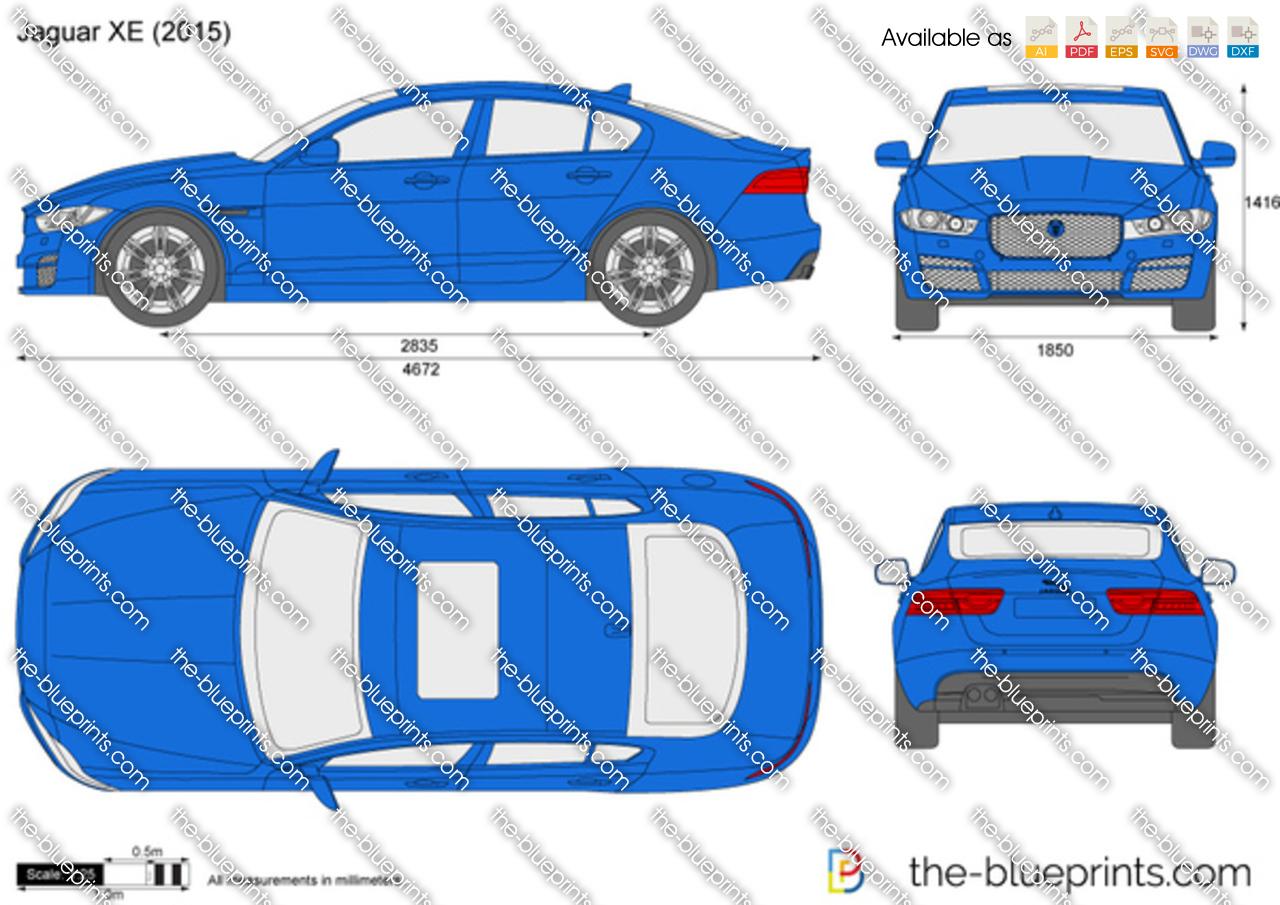 The Blueprints Com Vector Drawing Jaguar Xe