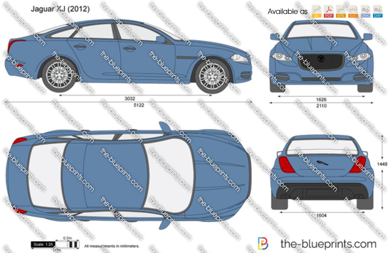 Ford Transit Wagon >> The-Blueprints.com - Vector Drawing - Jaguar XJ