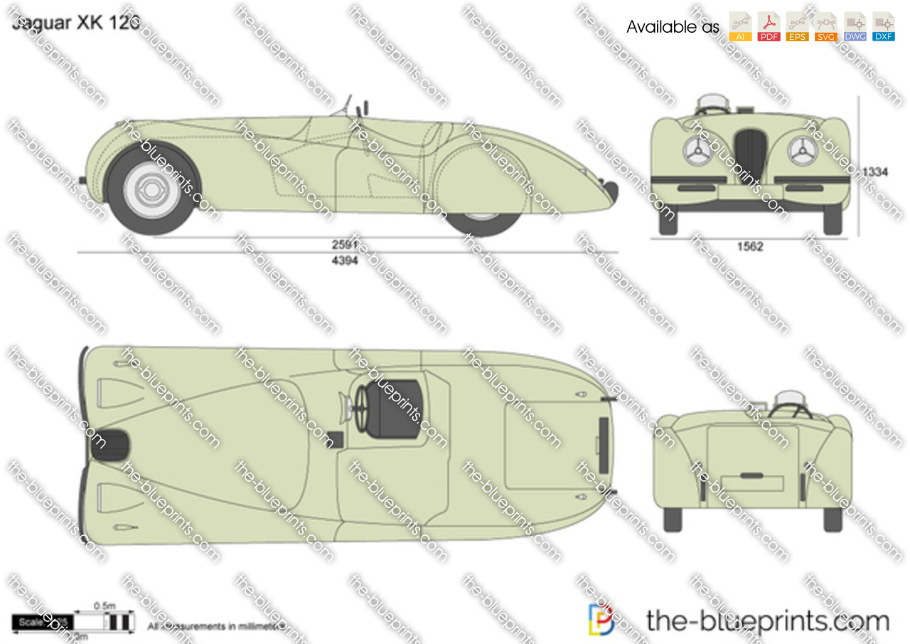 The Vector Drawing Jaguar Xk 120