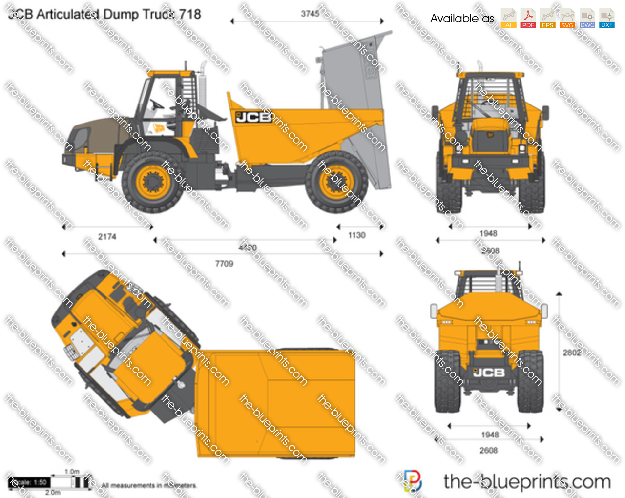 JCB 718 Articulated Dump Truck