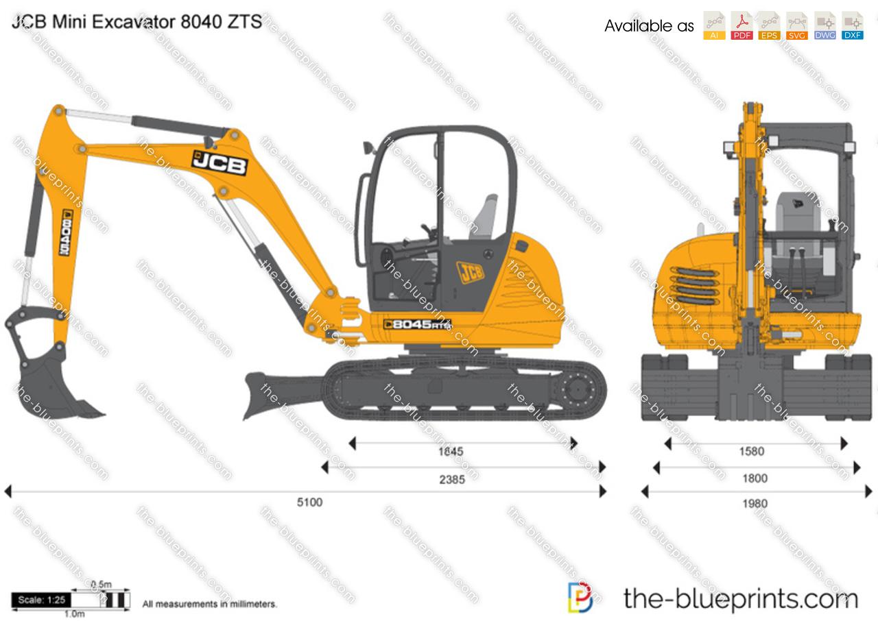 JCB 8040 ZTS Mini Excavator