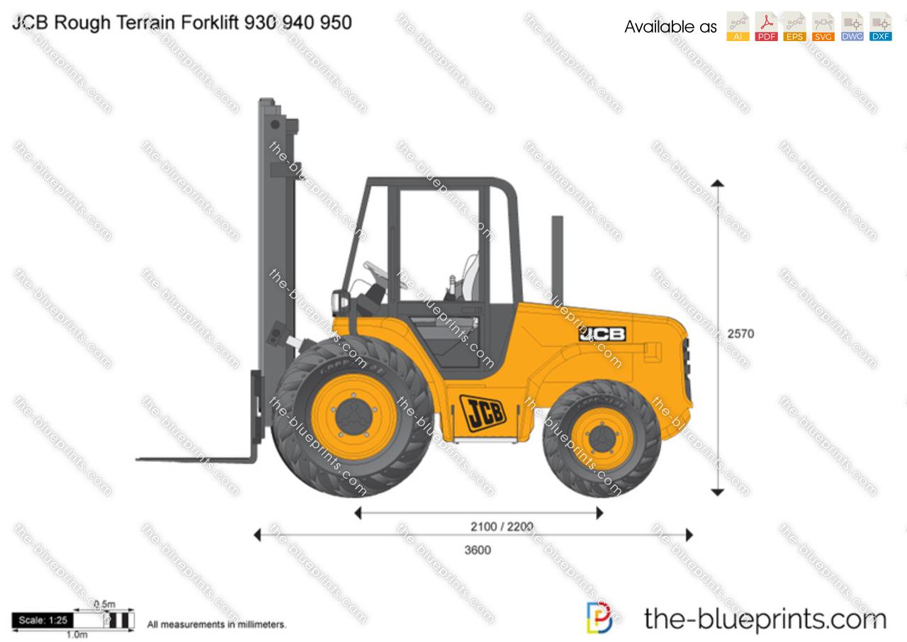 JCB 930 940 950 Rough Terrain Forklift
