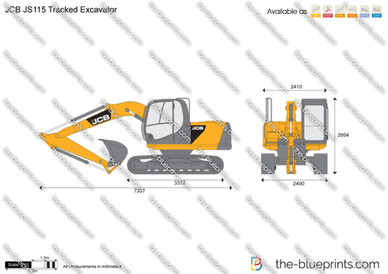 JCB JS115 Tracked Excavator