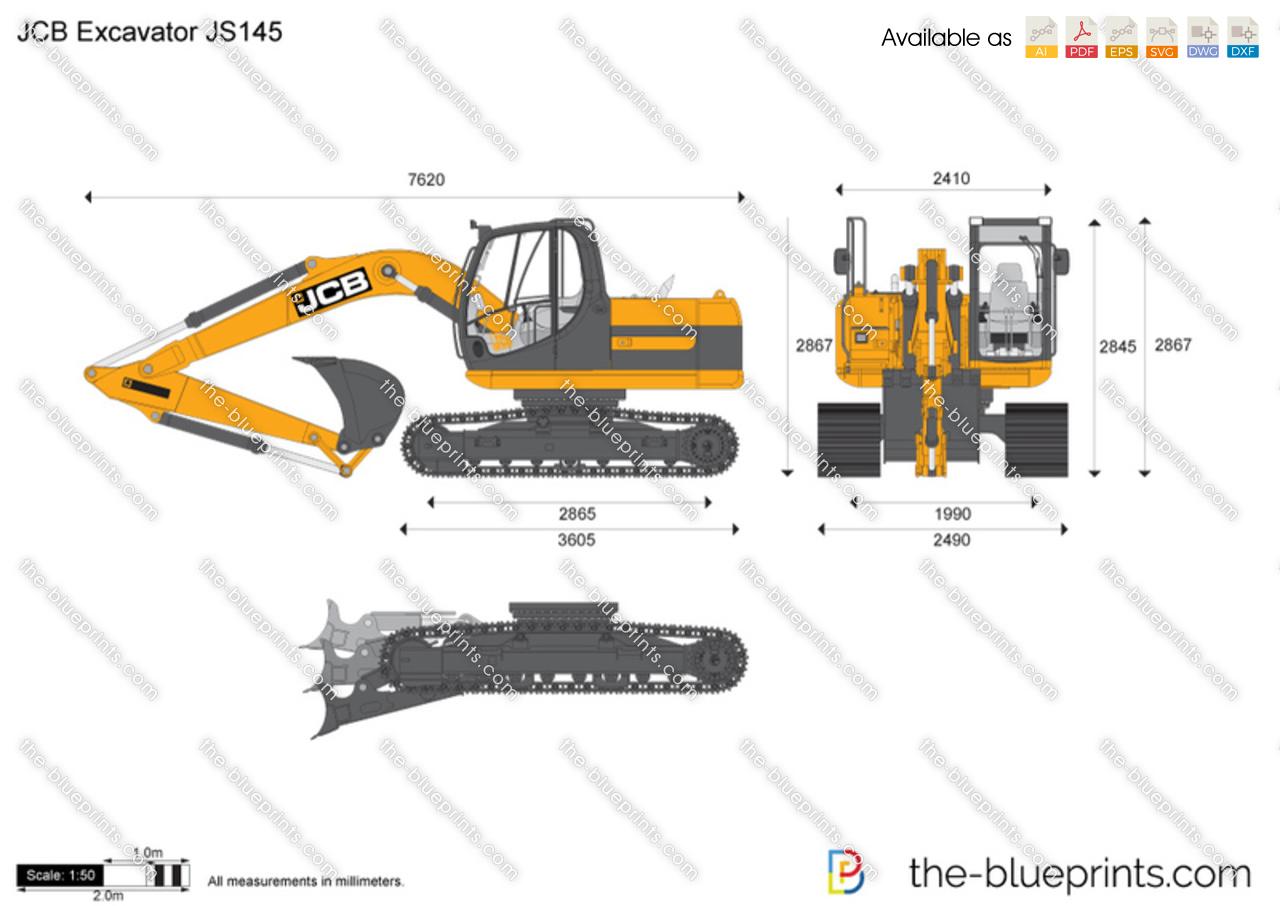 JCB JS145 Excavator