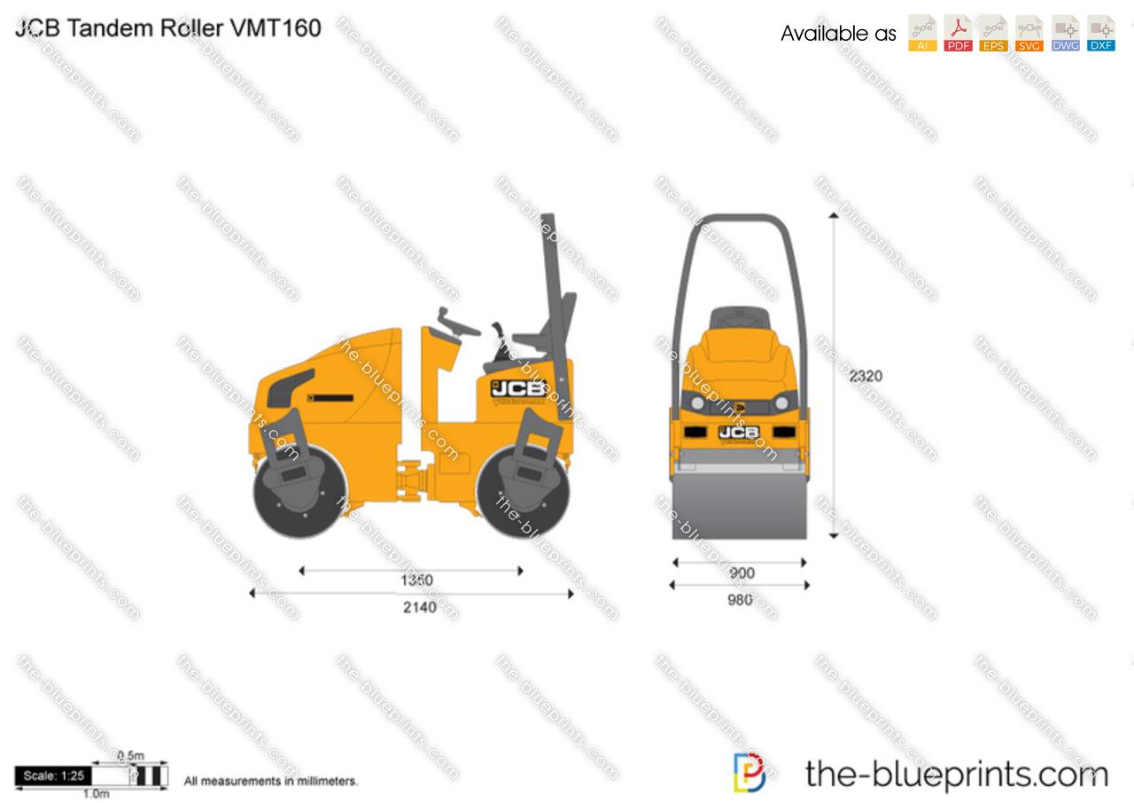 JCB VMT160 Tandem Roller