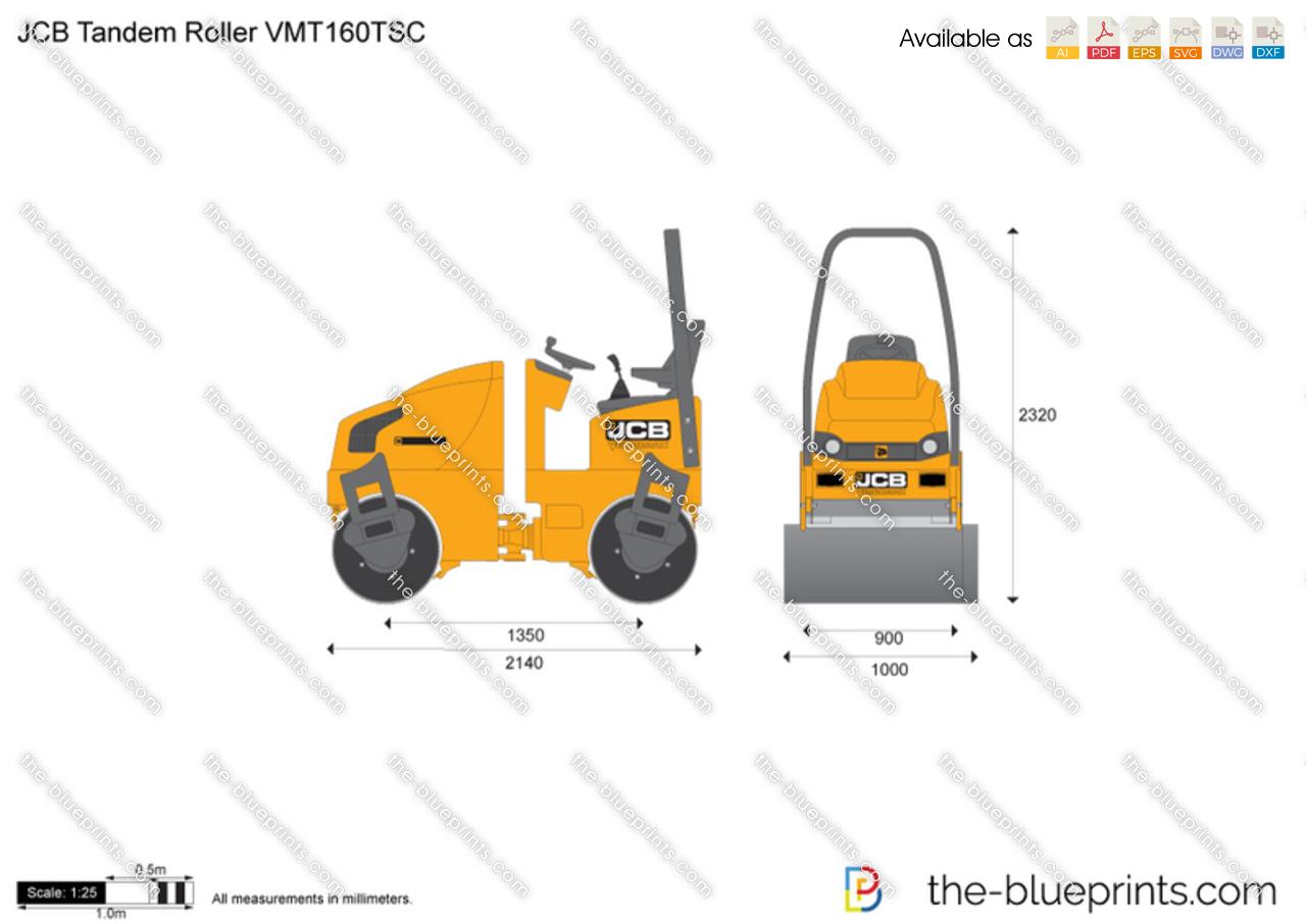 JCB VMT160TSC Tandem Roller