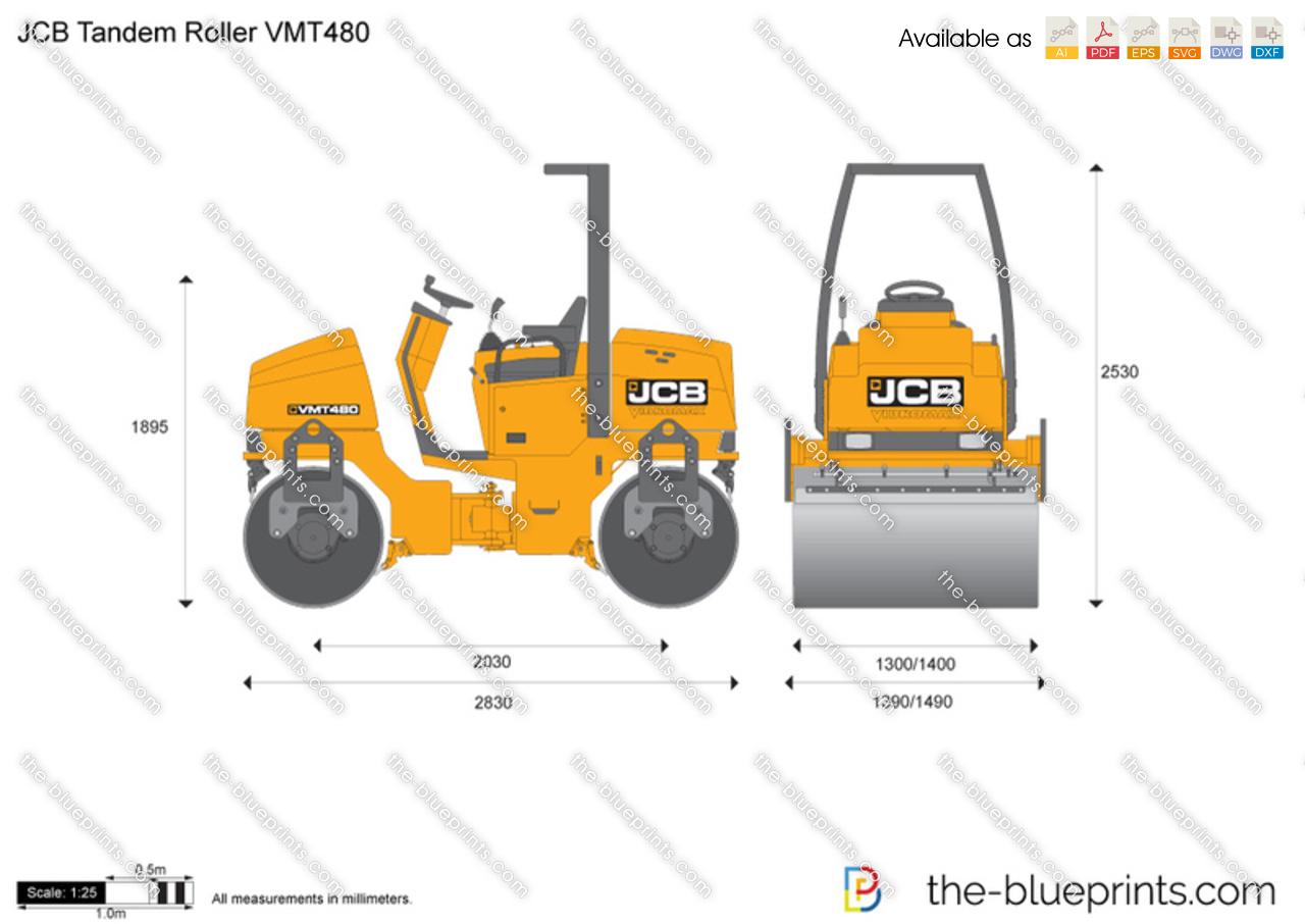 JCB VMT480 Tandem Roller
