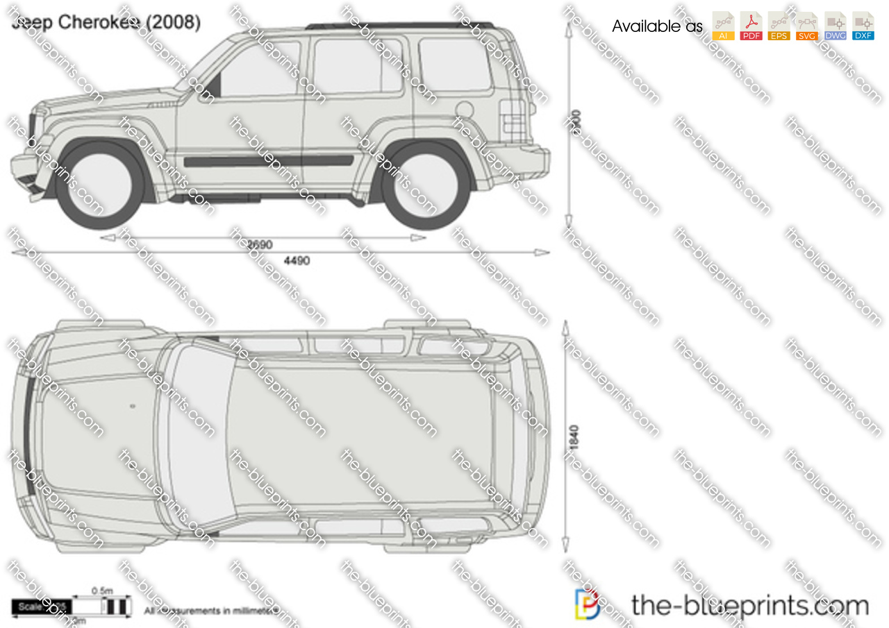 Jeep Cherokee Vector Drawing